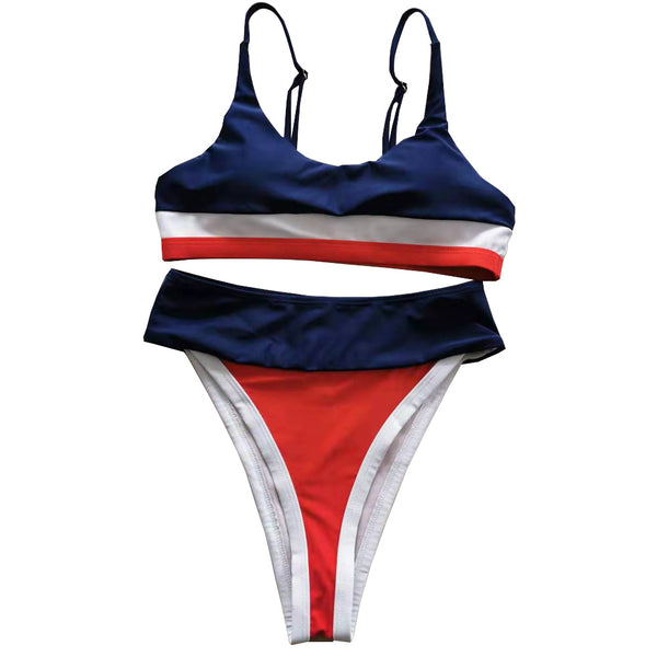 Sexy High waist Swimsuit Bikini Set Swimwear