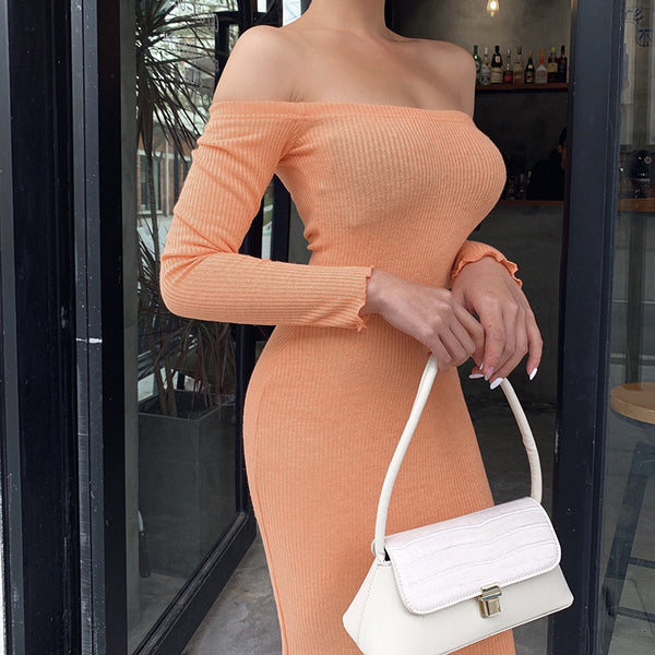 Sexy Long Sleeves Bodycon Dress