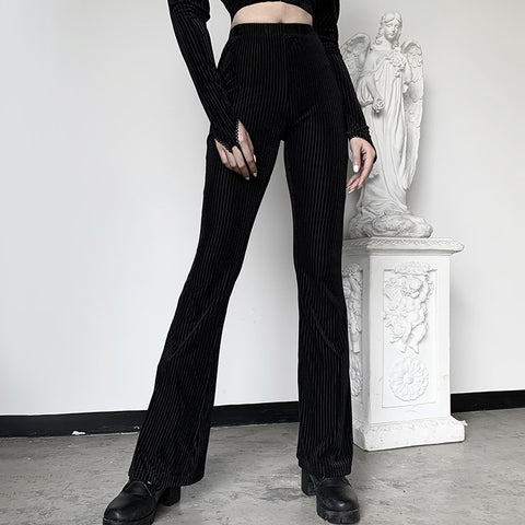 High Waist Black Flare Pants