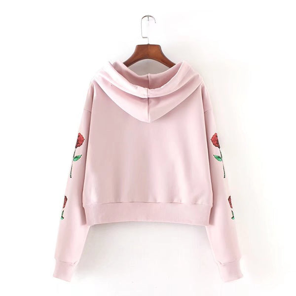 Fashion Sequined Long-Sleeved Hooded Sweater