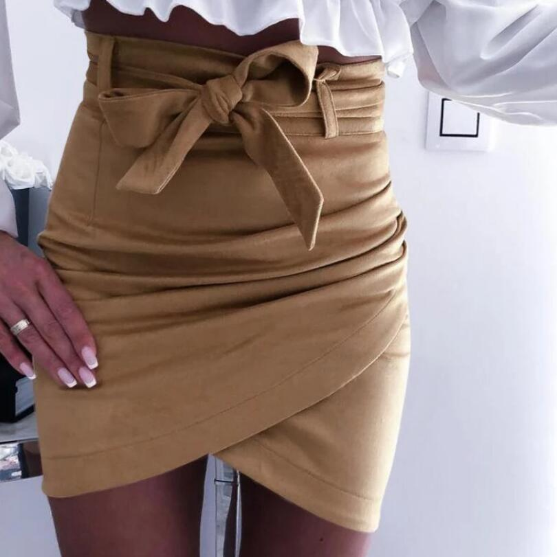 High waist Cross Bandage Skirt