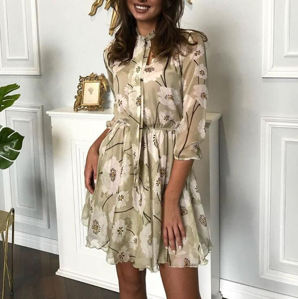 Womens Sexy Tie Print Dress
