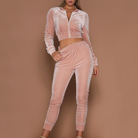 Zipper Sweater Tracksuit Two-piece Suit
