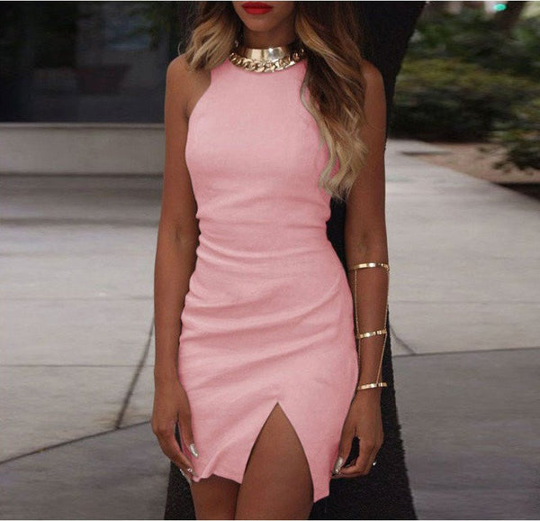 SLIM SLEEVELESS PACKAGE HIP DRESS