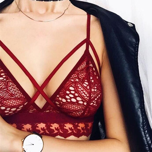Sexy Lace Sling Top Lingerie Bra