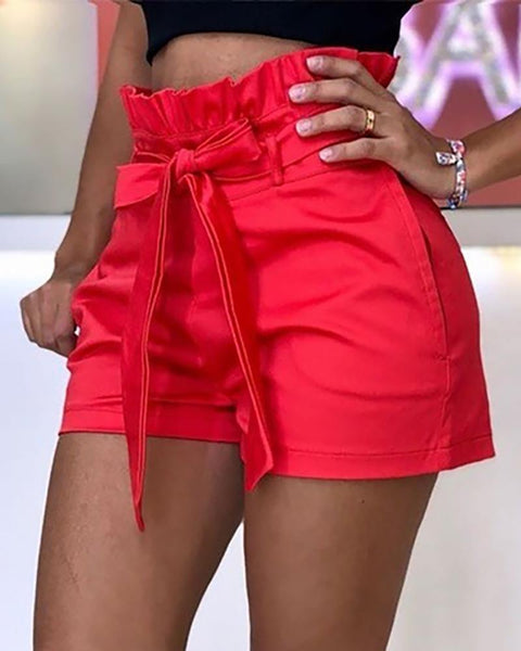 High Waist Short With Belt Pants