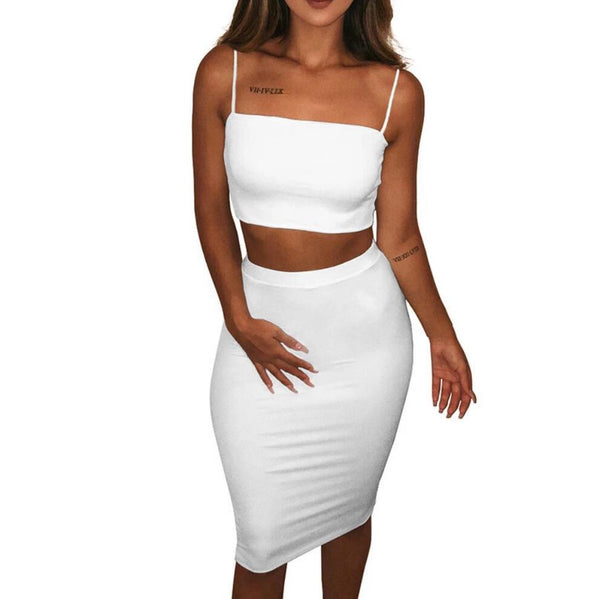 Sexy Womens Sling Vest Two-piece Dress