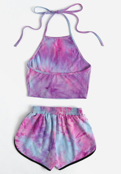 Sexy Exposed Navel Vest Shorts Two Piece Sets