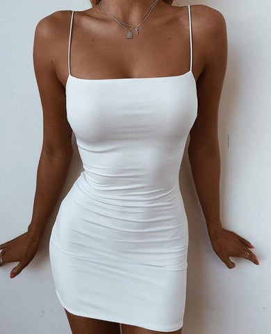Women Sexy Sling Sleeveless Dress