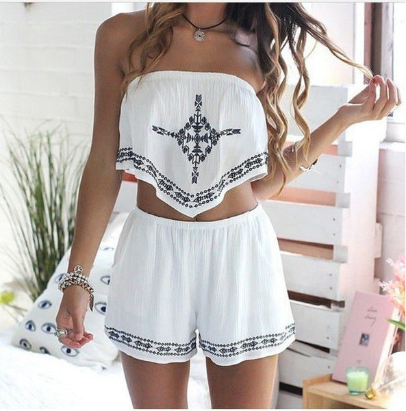 Fashion printed Two-piece shorts