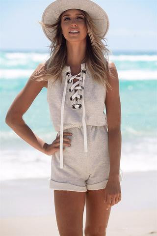 FASHION SLEEVELESS HIGH WAIST JUMPSUIT