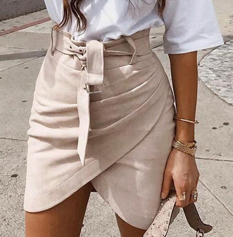 Womens Bandage High waist Skirt