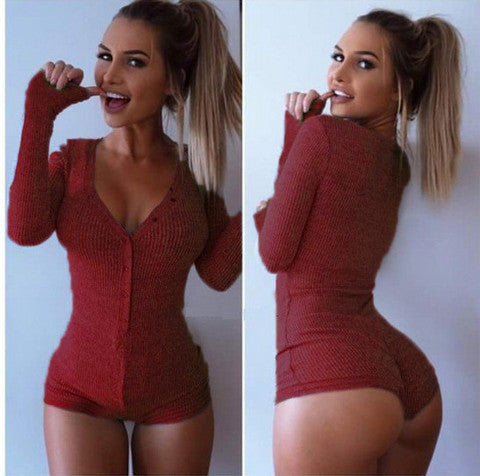 LONG-SLEEVED KNIT JUMPSUITS
