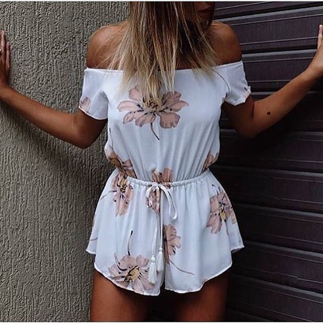 Fashion Sexy Printing Jumpsuits