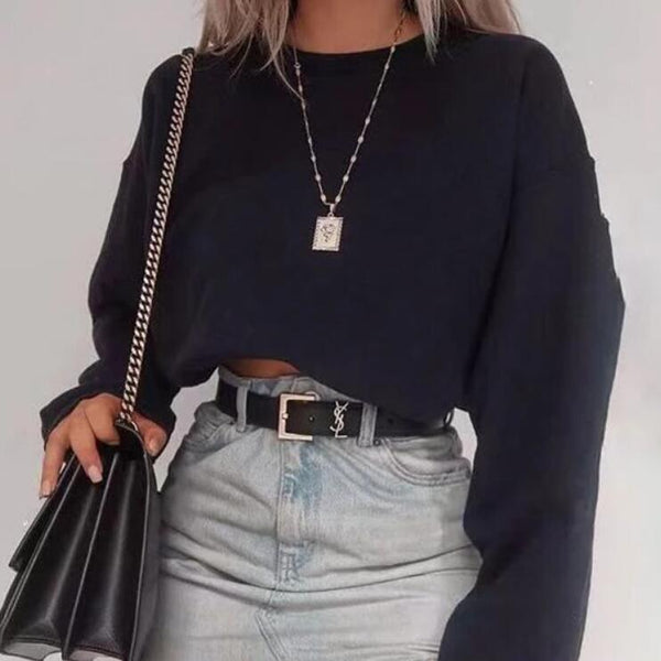 Fashion Round Neck Sweater Top