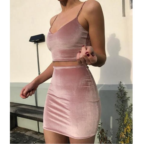 FASHION SEXY TWO-PIECE DRESS