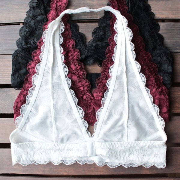Sexy Solid Color Lace Bra Vest Top