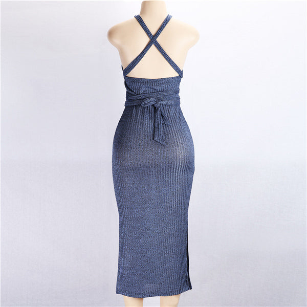 Sexy Slim Backless Sleeveless Mini Dress