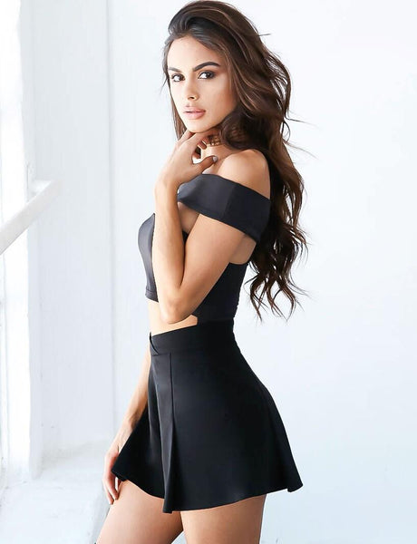 Sexy Black Wrapped Chest Jumpsuits