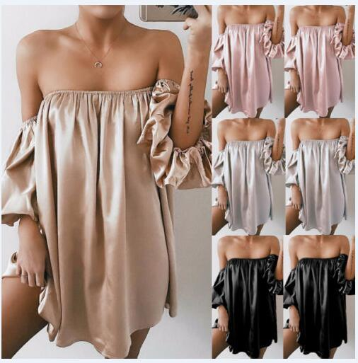 Women'S Irregular Wrapped Chest Dress