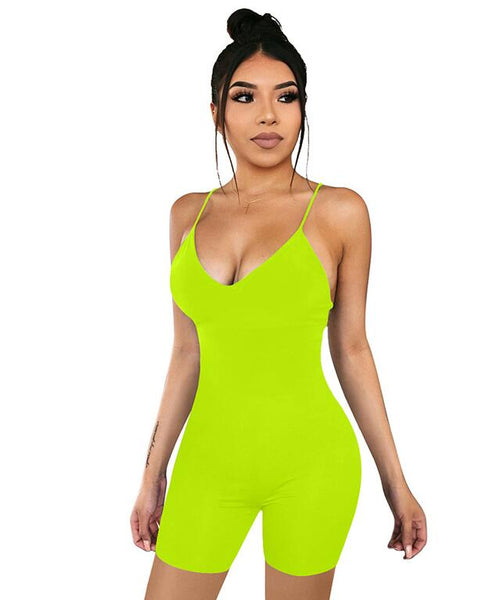 Deep Sexy V-neck Sling Jumpsuit