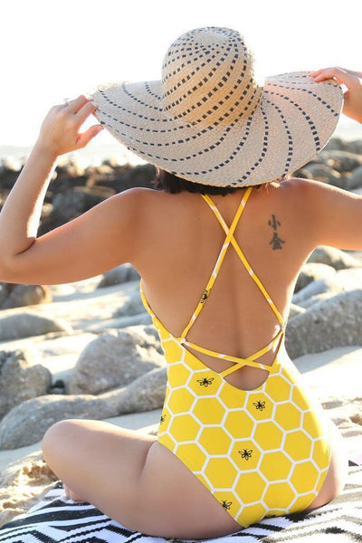 Sexy Backless Bandage One Pieces Swimsuit