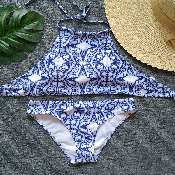 Sexy Fashion Print Bikini Set Swimsuit Swimwear