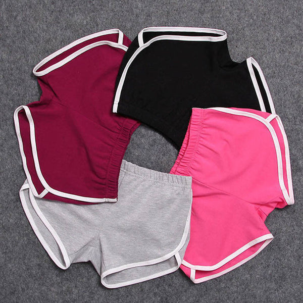 Sports Shorts Pants Gym Workout Waistband Skinny Yoga Short