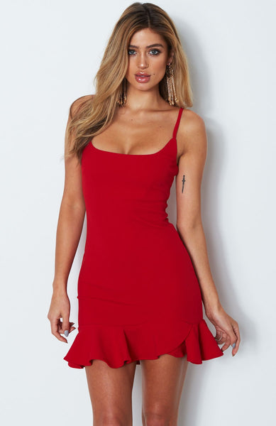 Sexy Sling Solid Color Sleeveless Dress