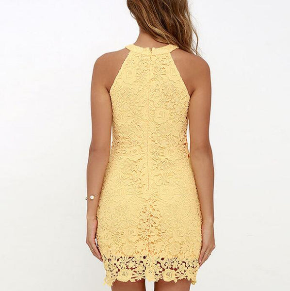 Sexy Womens Sleeveless Lace Dress