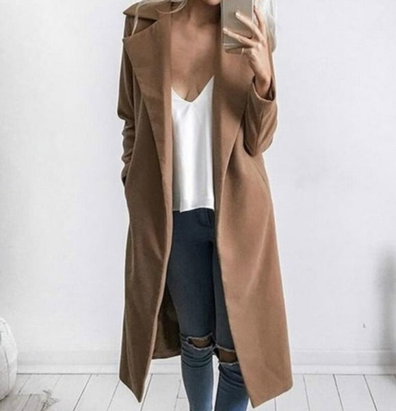 Fashion Women Long-Sleeved Cardigan Jacket Coat