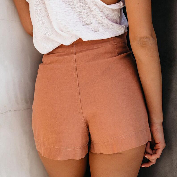Slim High Waist Shorts