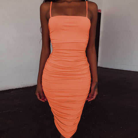 Sexy Sling Sleeveless Vest Dress