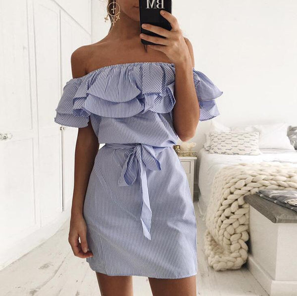 Fashion Women's Striped dress