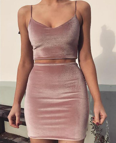 Sexy Sling Vest Top Skirt Two-Piece Suit