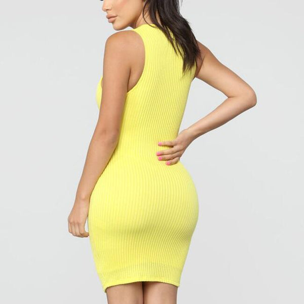 Sexy Sleeveless Bodycon Dress