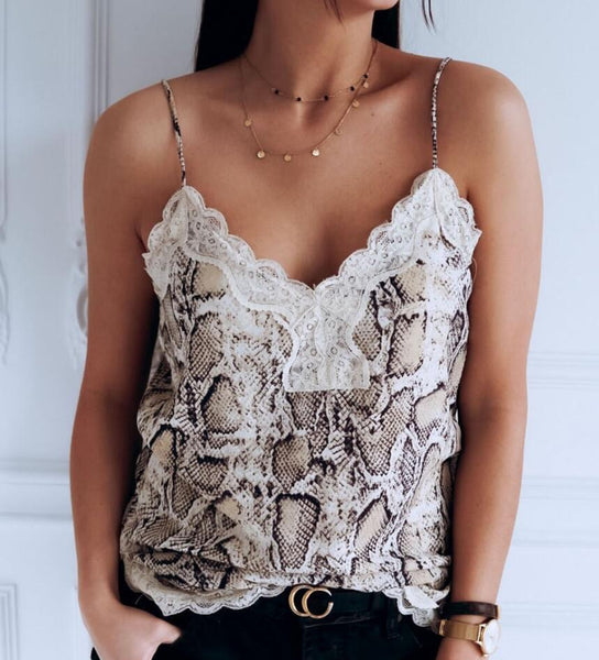 Sexy Sling Lace Vest Crop Top