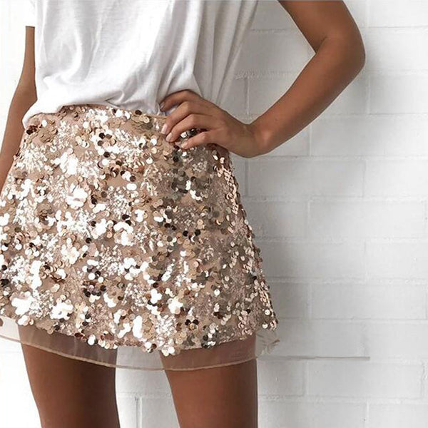 Sexy Women's Sequins Skirt