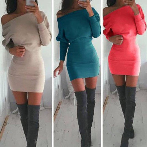 e654c84f8643 SEXY LONG SLEEVE MINI DRESS – whaonck
