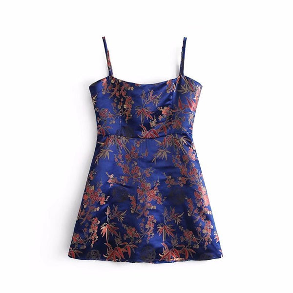 Womens Sling Embroidered Sling Dress