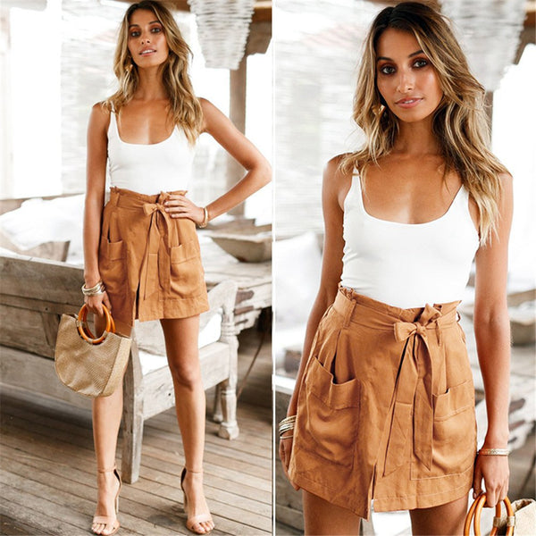 Sexy Women Tops Vest And Shorts Two-Piece Set