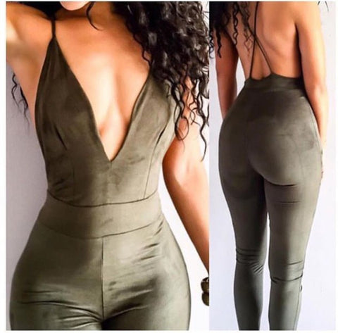 SLING V-NECK JUMPSUIT
