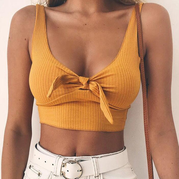 Sexy Bow Vest Crop Top
