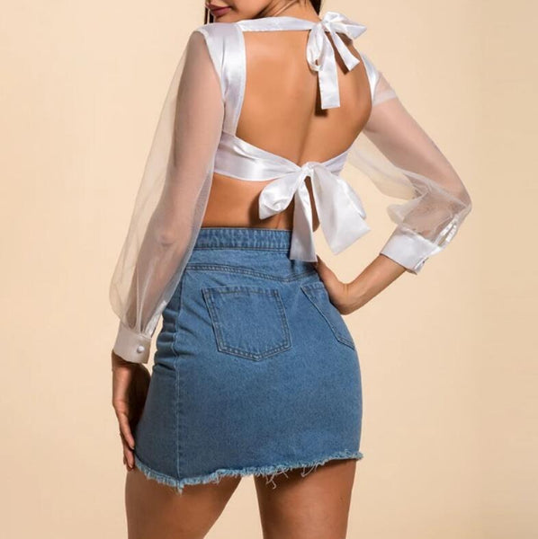 Fashion Zipper Denim Skirt