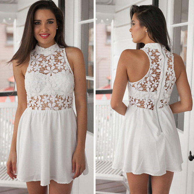 c0006279224 DESIGN WHITE LACE SLEEVELESS DRESS – whaonck