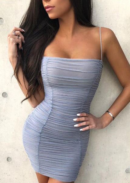 Lace Mini Ruched Bodycon Dress