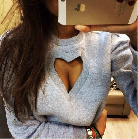 Fashion Heart-Shaped Sweater