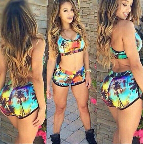 FASHION PRINTING SEXY TWO-PIECE SWIMSUITS