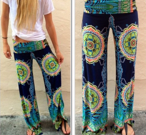 FASHION PRINTING STITCHING TROUSERS