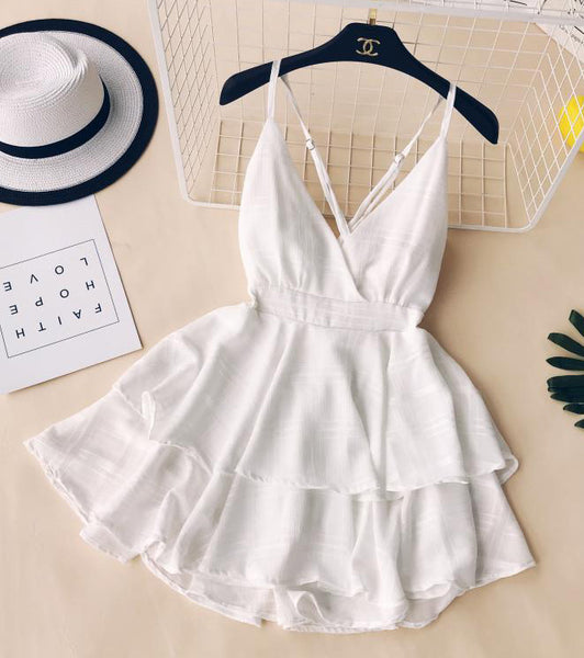 V-neck Backless Sling Rompers Jumpsuit